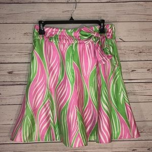Lilly Pulitzer Adeline Silk Skirt With Bow Size 2